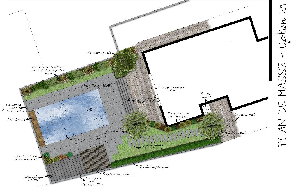 Construire sa piscine cr apaysage for Plan piscine